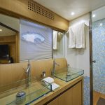 Pershing 90 Blue Marine Charter Bathroom