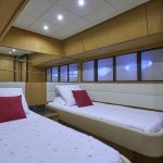 Pershing 90 Blue Marine Charter Bedroom