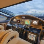 Pershing 90 Blue Marine Charter Cockpit