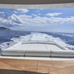 Pershing 90 Blue Marine Charter Deck Sunbed