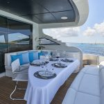 Pershing 90 Blue Marine Charter Deck Table