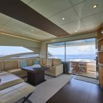 Pershing 90 Blue Marine Charter Salon 1