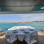 Pershing 90 Blue Marine Charter Table